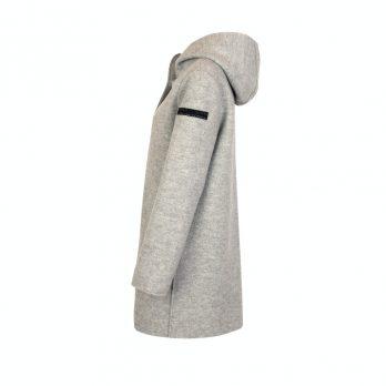 Boiled Wool Mantel mit Kapuze